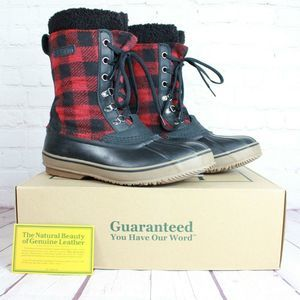 LL Bean Flannel Wool Insulated Duck Boots